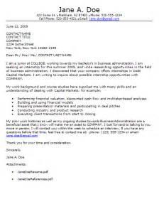 Sle Cover Letter For Internship In Information Technology Tips For Writing An Internship Cover Letter Career