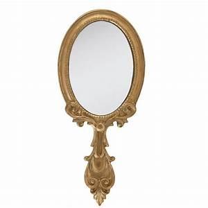 Miroir à Main : miroir main de coiffeuse couleur dor style baroque ~ Teatrodelosmanantiales.com Idées de Décoration