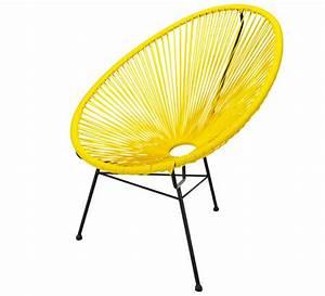 Salon De Jardin Acapulco : fauteuil acapulco jaune 79 salon d 39 t ~ Teatrodelosmanantiales.com Idées de Décoration