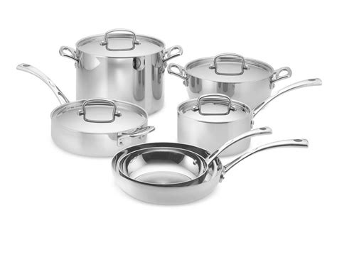 cuisinart tri ply stainless steel  piece cookware set williams sonoma ca