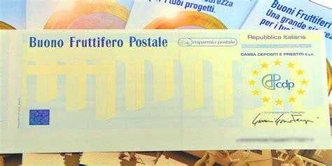 buoni fruttiferi poste italiane 2012
