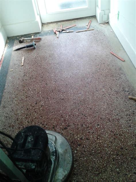 Terrazzo Floor Cleaning Tips by Restoring A Terrazzo Hallway Floor From 1924