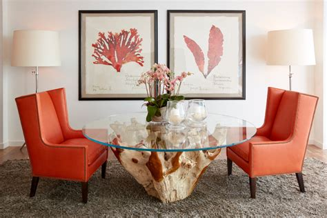 coral reef rugs with console table eclectic and mount