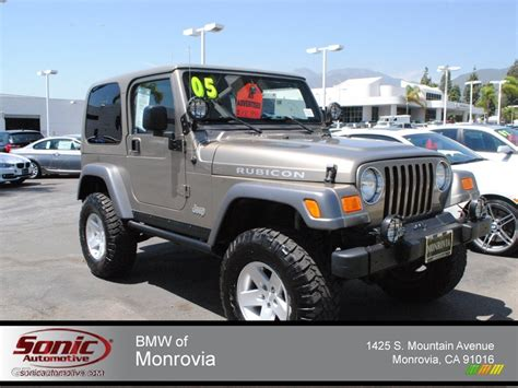jeep metallic 2005 light khaki metallic jeep wrangler rubicon 4x4