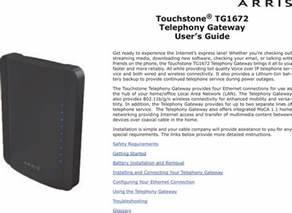 Arris Group Tg1672 Touchstone Telephony Gateway User
