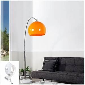 Stehlampe Retro Design : big bow retro design lampe dimmbar orange lounge stehlampe bogenlampe dimmer eur 118 00 ~ Bigdaddyawards.com Haus und Dekorationen