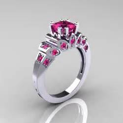 pink wedding rings classic 10k white gold 1 23 ct princess pink sapphire engagement ring r216p 10kwgps