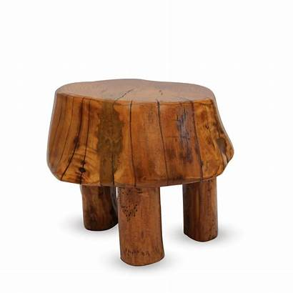 Stool Wooden Brutalist Stools Rustic Elm