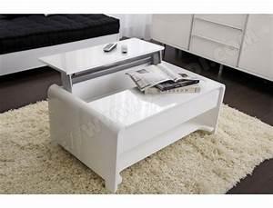 Table Basse Blanche Pas Cher : table basse ub design san francisco laqu e blanche 90 x 60 cm pas cher ~ Teatrodelosmanantiales.com Idées de Décoration
