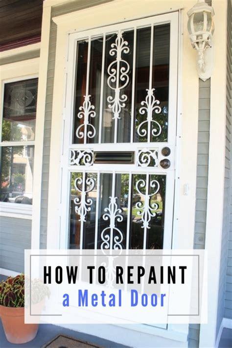 how to repaint a metal door pretty handy