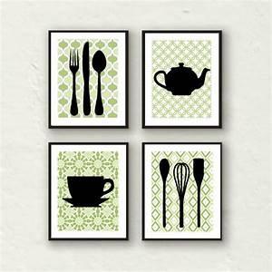 Fork art spoon kitchen decor utensil