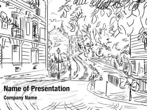 sketch france powerpoint template sketch france