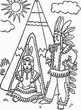 Native Coloring American Pages Teepee Boy Americans Nations Printable Drawing Boys Thanksgiving Children Adults Chumash Popular sketch template
