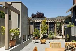 Architecture, U0026, Design, Modern, Courtyard, House, By, Tyler