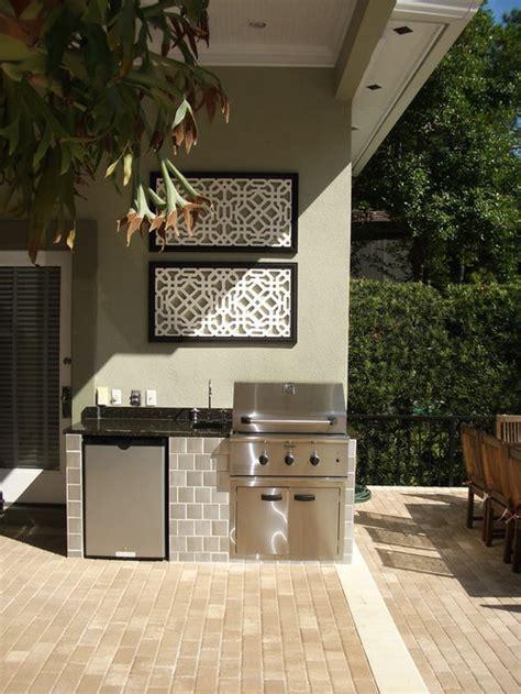 small outdoor kitchen houzz