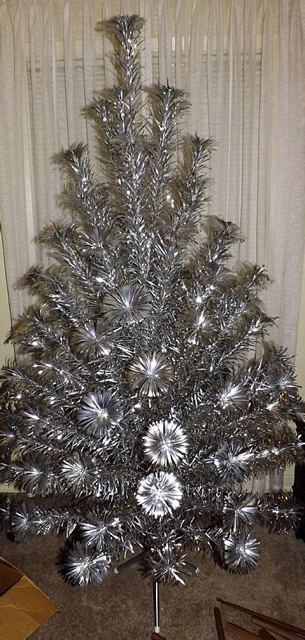 aluminum christmas tree vintage pom pom aluminum