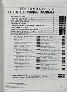 1995 Toyota Previa Electrical Wiring Diagram Manual Us