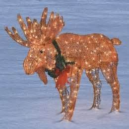 lighted moose lawn ornament