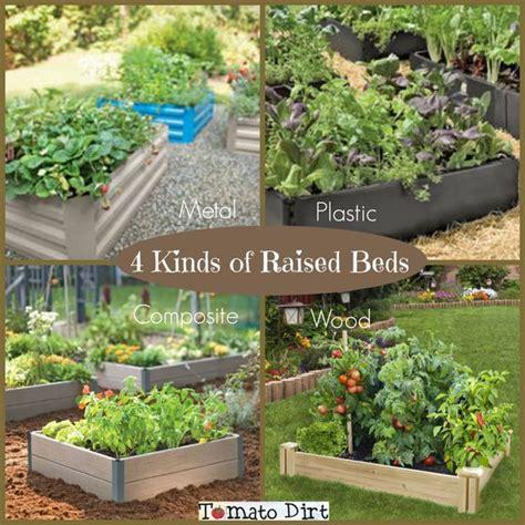 garden materials 4 kinds of materials for raised beds for tomatoes get all the details http www tomatodirt