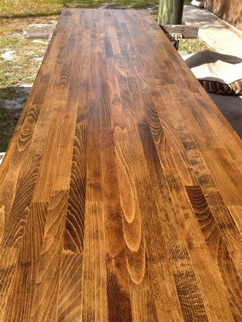 Birch Butcher Block Countertops - walnut on ikea birch butcher block and sealed with