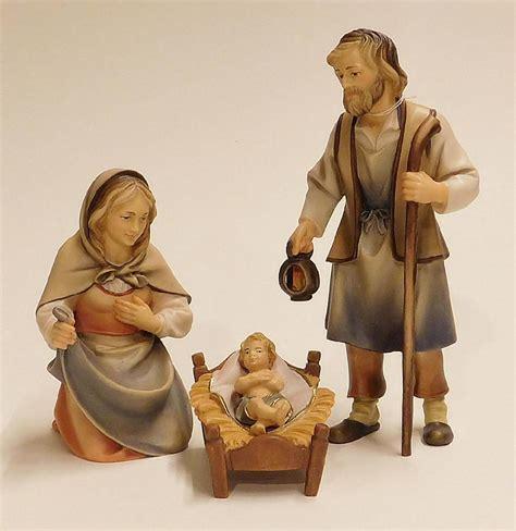 perathoner hirten krippe heilige familie holz kunst