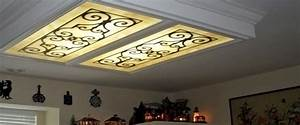 Fluorescent lighting decorative light panels