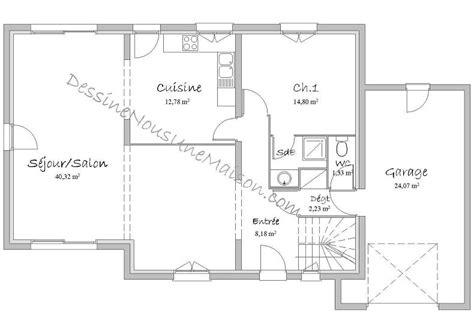 plan maison rdc 3 chambres plan maison etage 4 chambres gratuit 1 plans de maisons