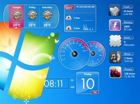 gadgets bureau windows 8 windows 7 gadgets pack 1 0 télécharge thèmes