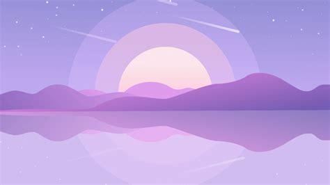 free purple aesthetics computer wallpapers top
