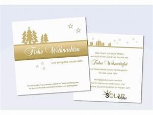 Text Für Weihnachtskarten Geschäftlich : firmen weihnachtskarte tannenzauber in gold ~ Frokenaadalensverden.com Haus und Dekorationen