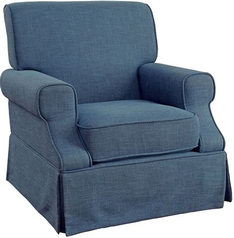 leela blue 360 swivel glider rocker chair from furniture