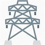Pole Pylon Electricity Icon Mast Utility Power