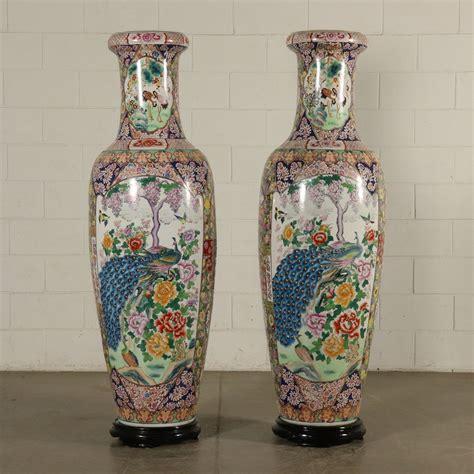 vasi cinesi grandi coppia di grandi vasi cinesi con supporto oggettistica