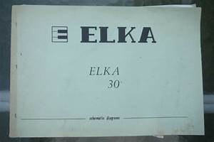 Elka Elka 30 Electronic Organs Schematic Diagram Manual