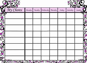 free blank chore charts templates family chore chart With chore list template for kids