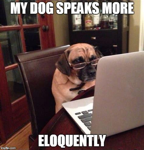 Dog On Computer Meme - computer dog imgflip