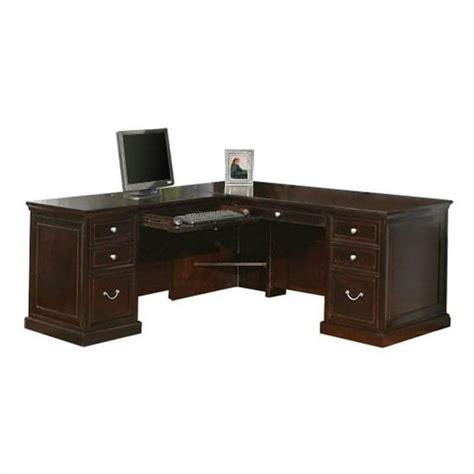 l shaped espresso computer desk kathy ireland home by martin fulton 68 quot lhf l shaped