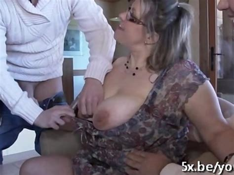 French Mature Julia Gangbanged In Stockings Free Porn