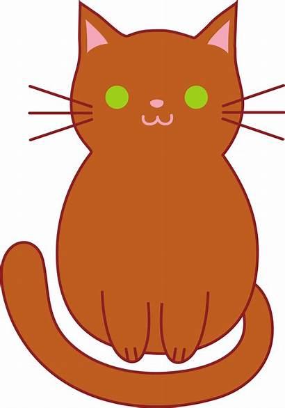 Cat Brown Clip Kitten Chubby Sweetclipart