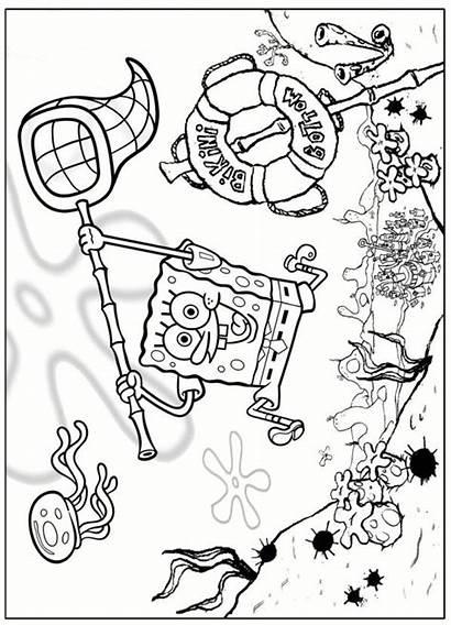 Spongebob Coloring Pages Squarepants Fun Bob Kleurplaten