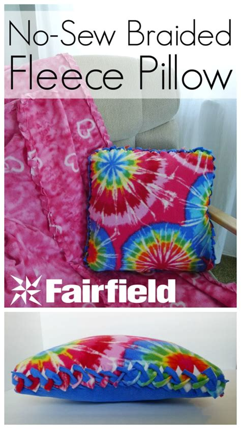 sew fleece pillow diy  crafts