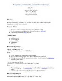 resume objective sles management resume of a receptionist sales receptionist lewesmr