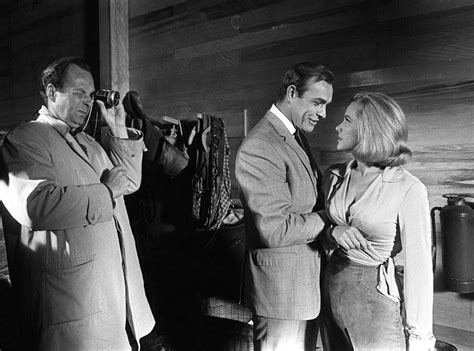 roger moore goldfinger sean connery honor blackman in goldfinger from james