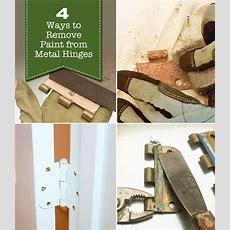 4 Ways To Remove Paint From Metal Hinges (& Other Door