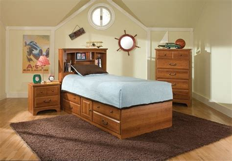 Captains Bed With Bookcase Headboard by City Park Captain Bed W Bookcase Headboard 4851