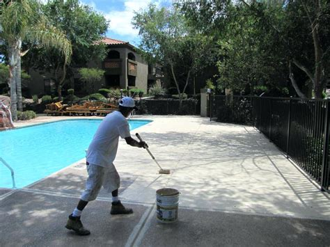 pool cool deck paint pool deck coating applying cool deck