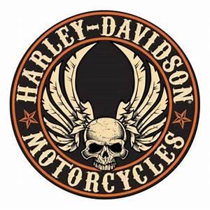 Harley-Davidson Embossed Flying Skull Button Round Tin