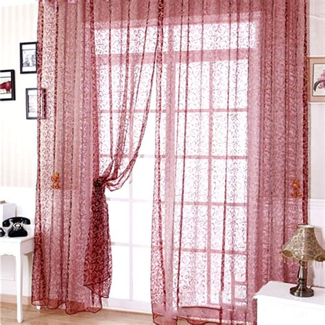 floral window curtains modern floral voile window curtain drape panel sheer