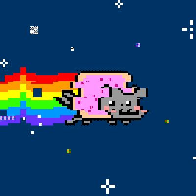 glitch nyan cat gif  gftd find share  giphy