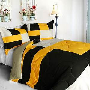 Yellow And Black Bedding Sets Make The Bedroom Livelier